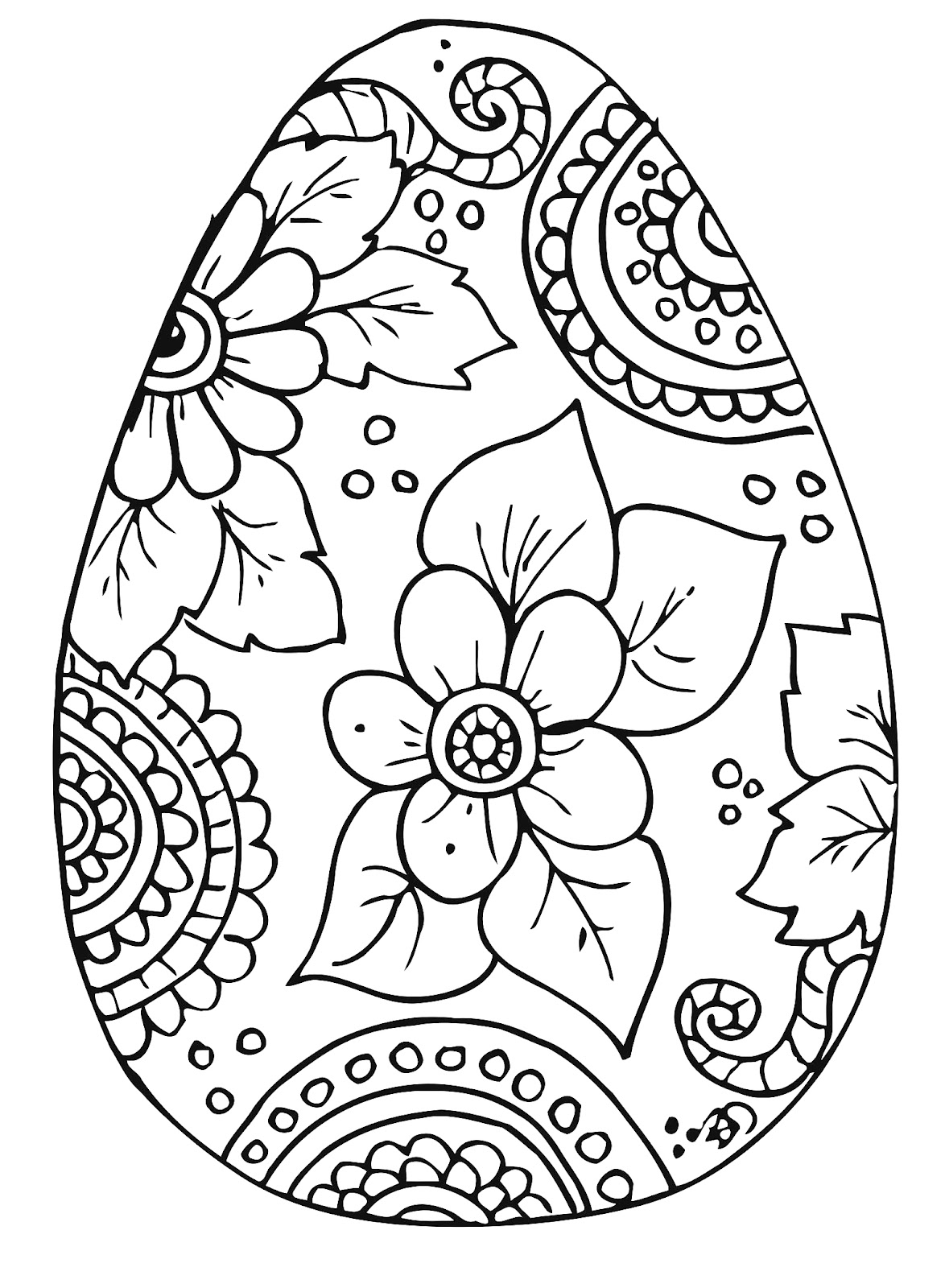 complex easter coloring pages - photo#11