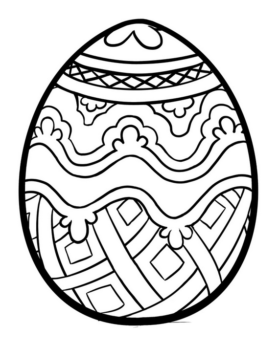 abstract easter egg coloring pages - photo#23