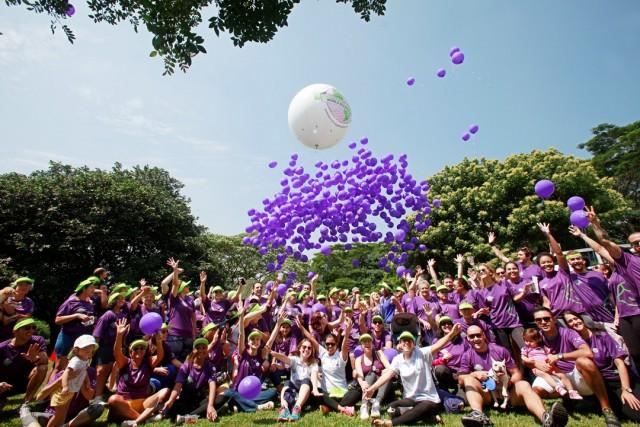 28/03/2015 - Purple Day - World Epilepsy Day - Parque Villa-Lobos - São Paulo - Fotos Eugênio Goulart