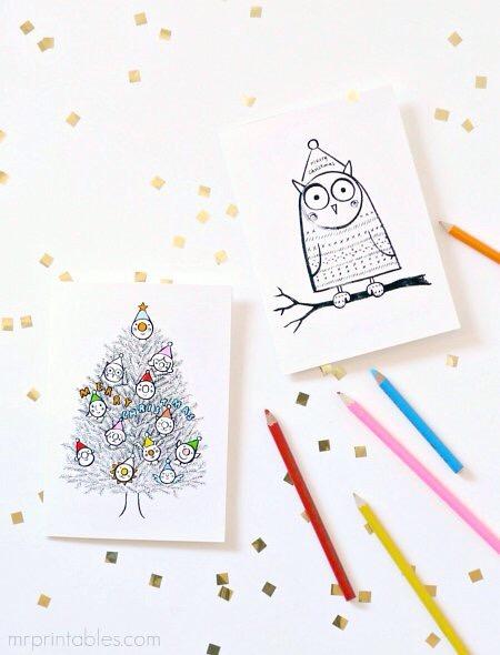Cartoes De Natal Para Imprimir Divirta Se Com Criancas Ou Adultos