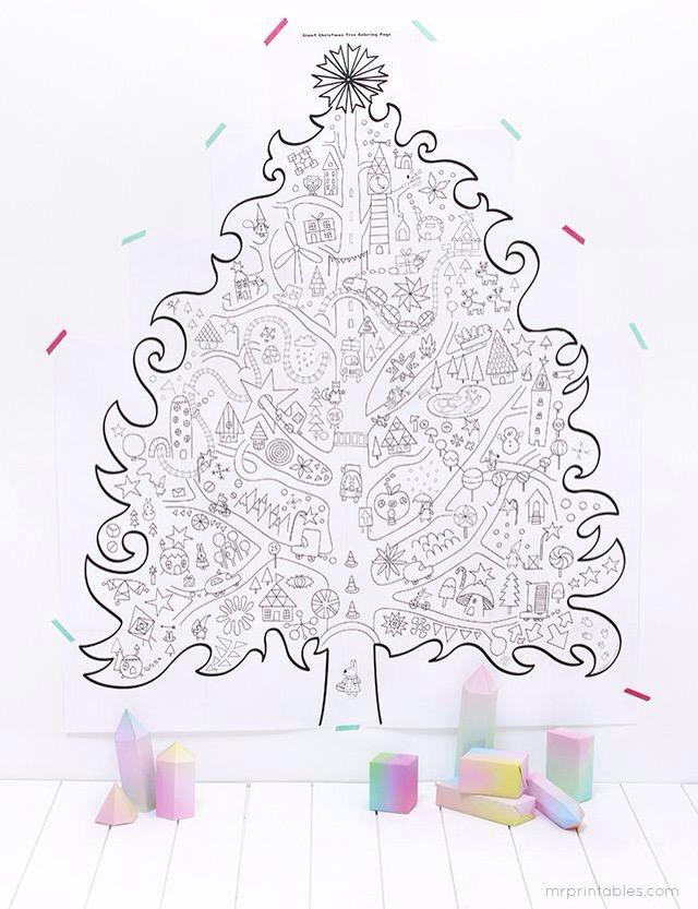 Uma Arvore De Natal Gigante Para Pintar Imprima Aqui Reab Me